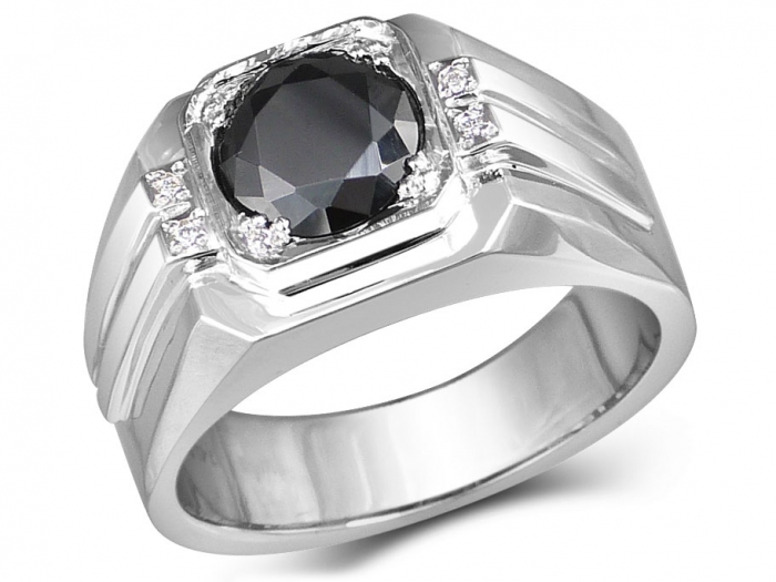 Jack Signet Ring In 10k White Gold With