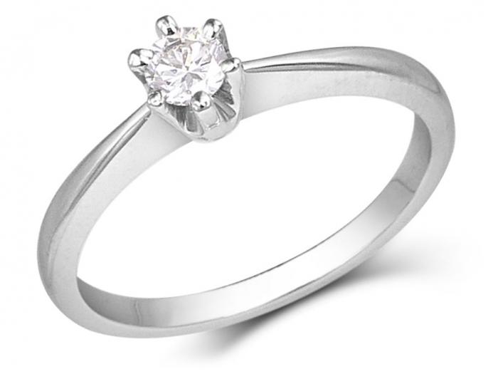 bague diamant 6 griffes