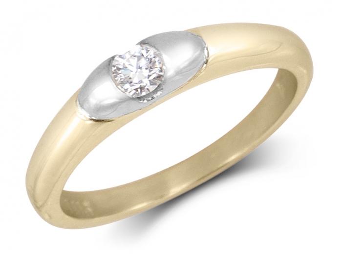 photo bague diamant moderne