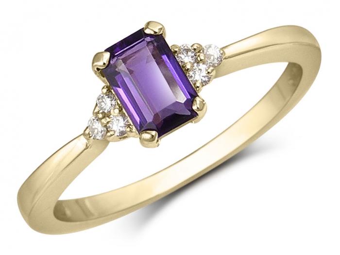 bague diamant et emeraude