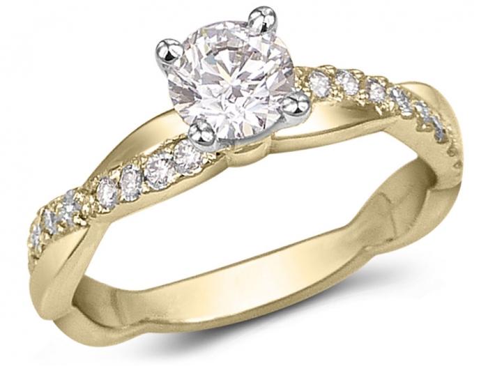 bague or avec diamants
