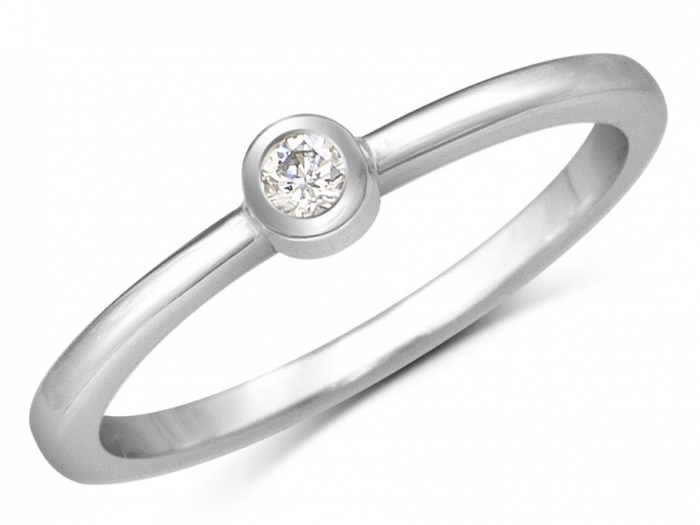 bague or diamant moderne