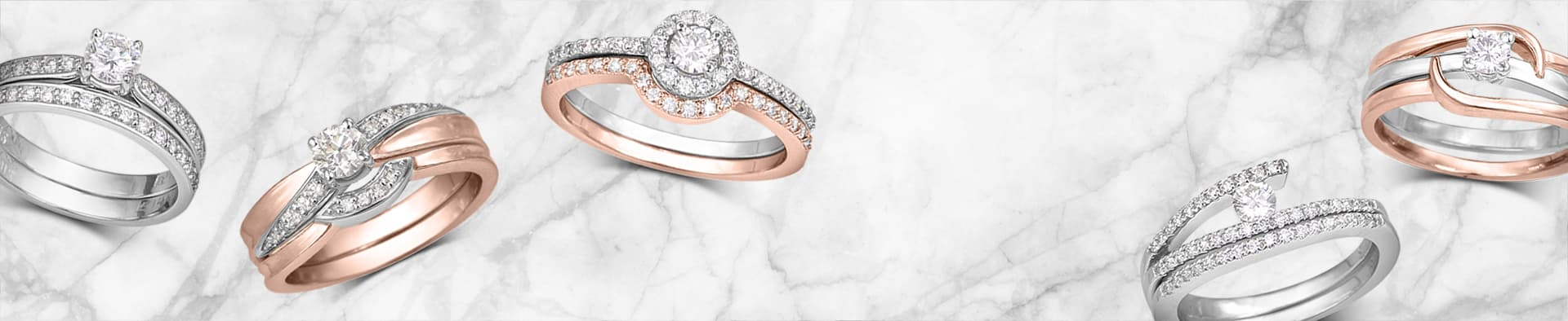 Wedding bridal set with diamonds