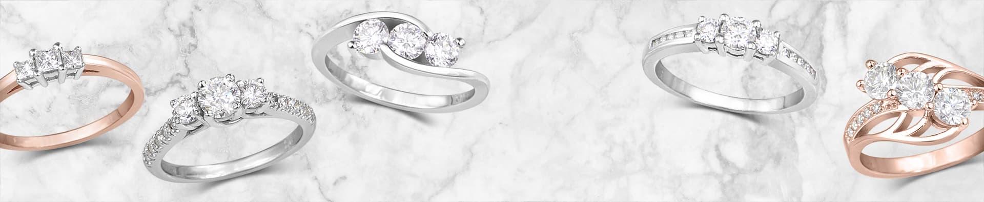 Acheter bague trinité à diamant