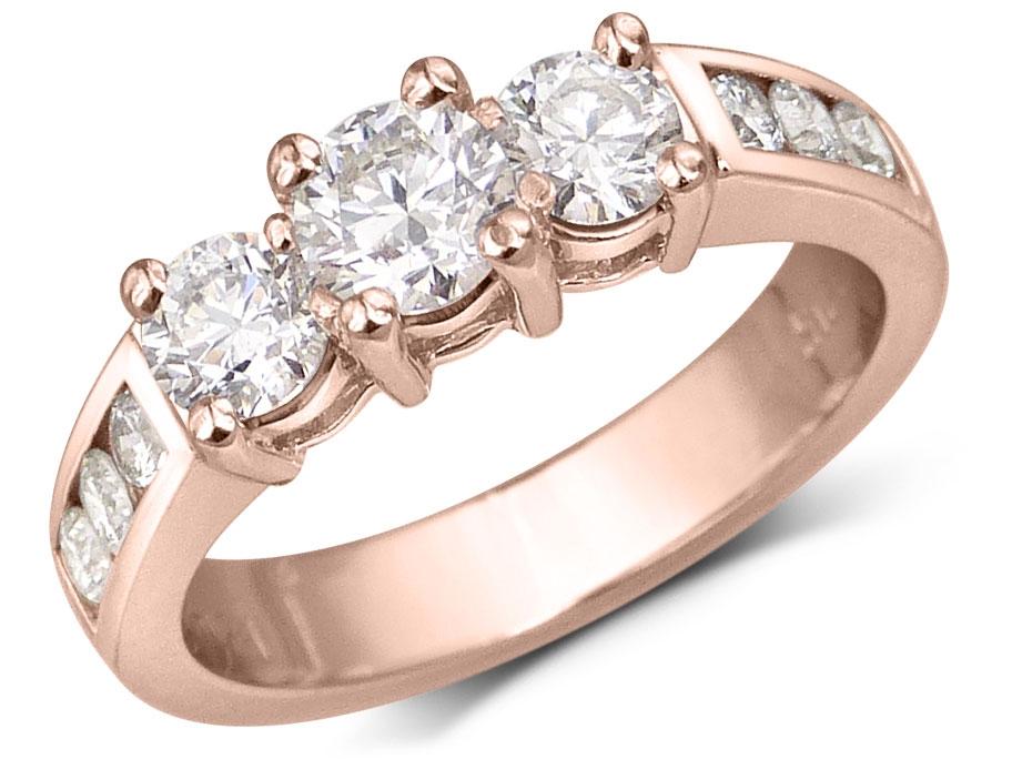 bague Trinité 3 pierres diamants