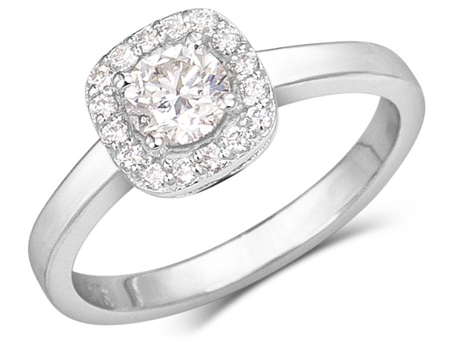 Bague diamant en halo cadeaux noel