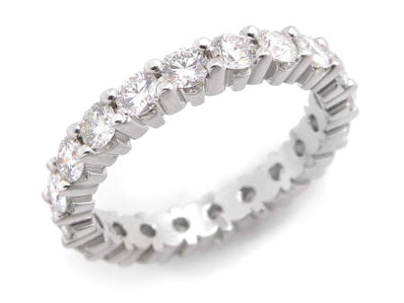 Jonc éternité en or à diamants