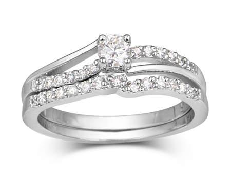 Set d'alliances à diamants