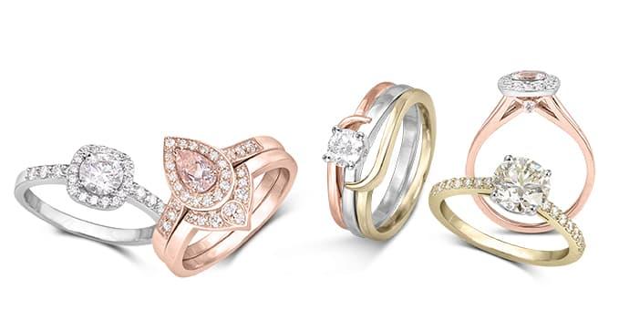 Collection bague pour mariage et fiançailles
