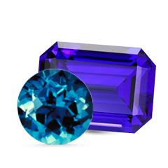 Pierre naissance décembre tanzanite topaze bleu