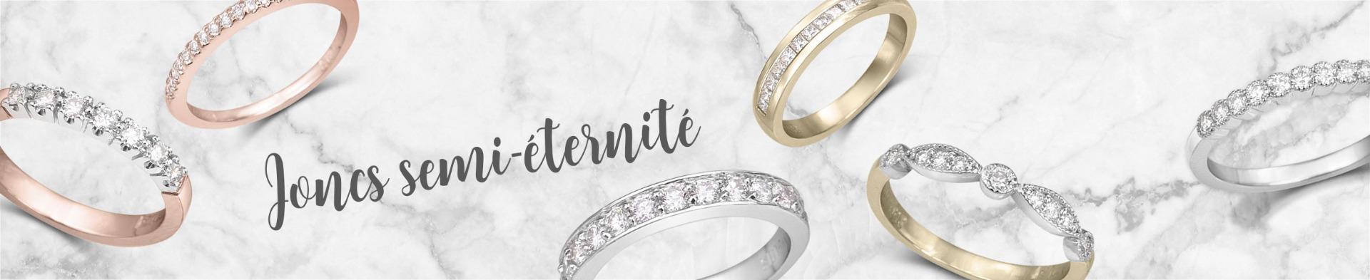 Acheter jonc semi éternité à diamant